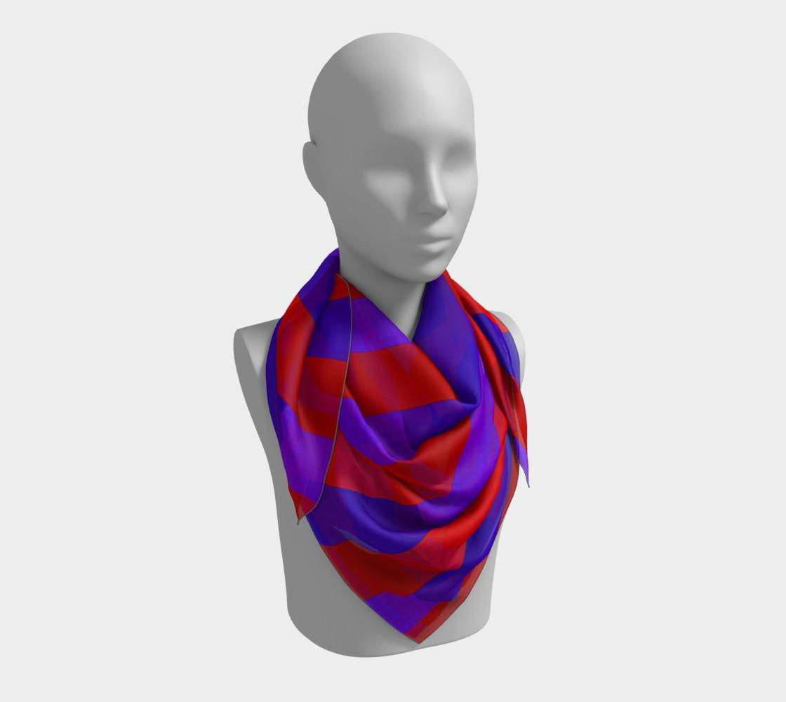 Aperçu de Purple on Purple, Red on Red Silk Scarf #3