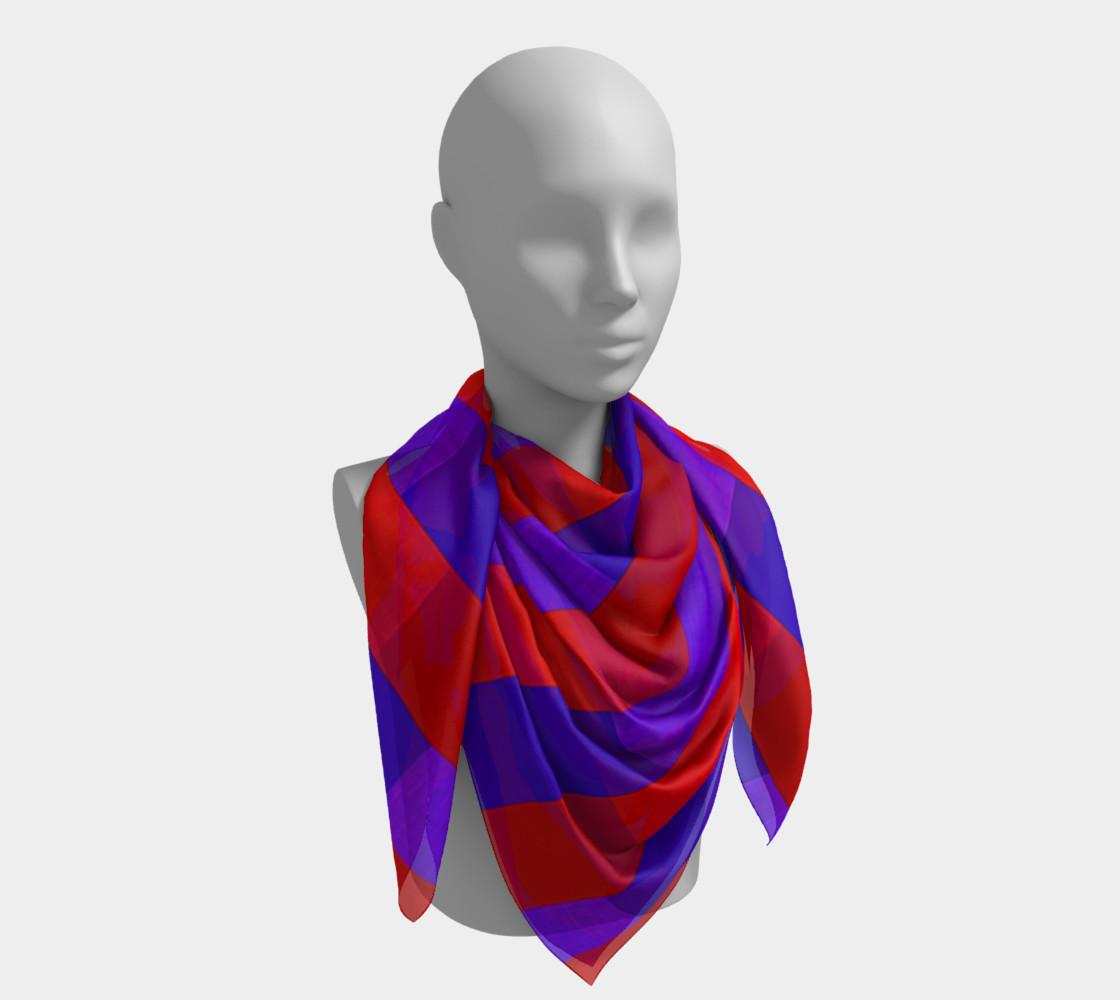 Aperçu de Purple on Purple, Red on Red Silk Scarf #4