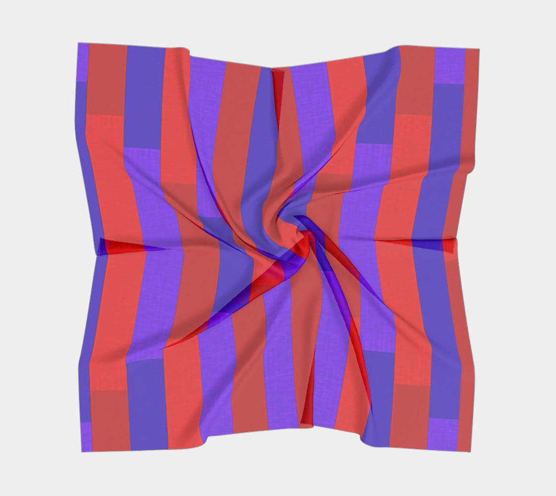 Aperçu de Purple on Purple, Red on Red Silk Scarf #5