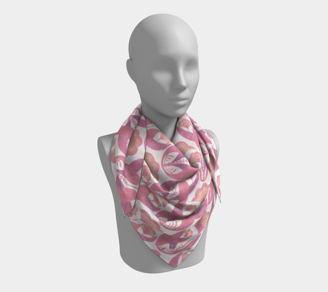 Aperçu de Folk art flowers repeat pink #3