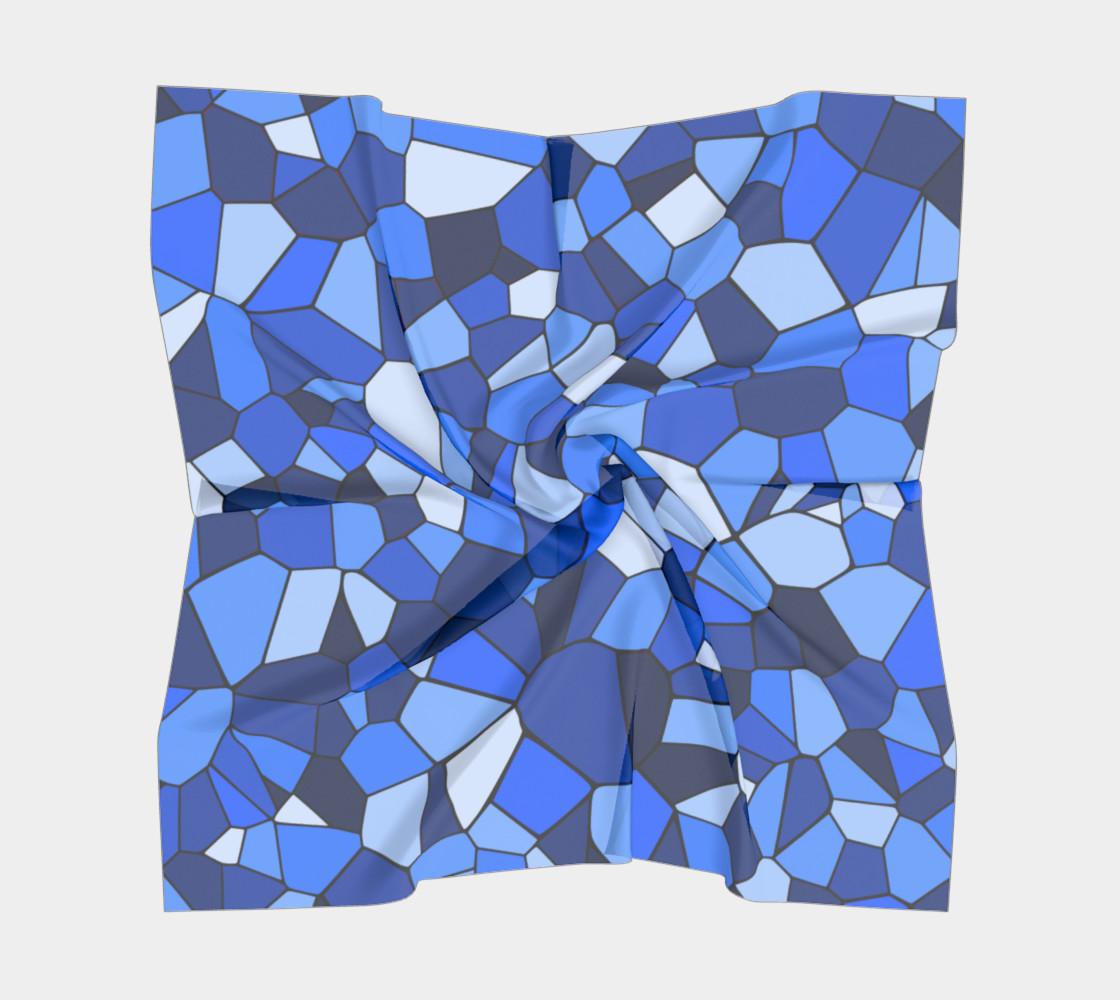 Blue Monochrome Geometric Mosaic Pattern preview #5