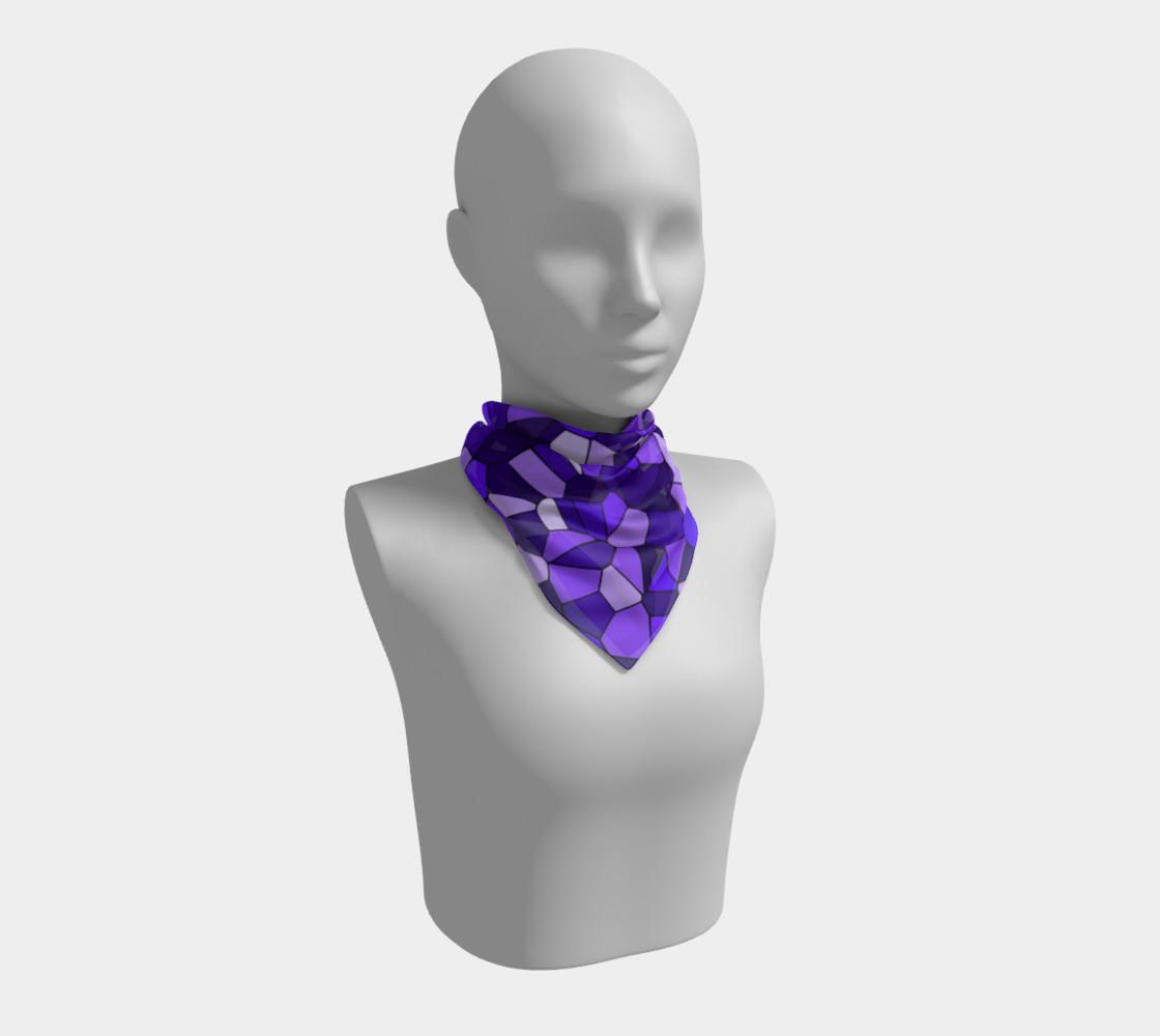 Aperçu de Purple Monochrome Geometric Mosaic Pattern #1