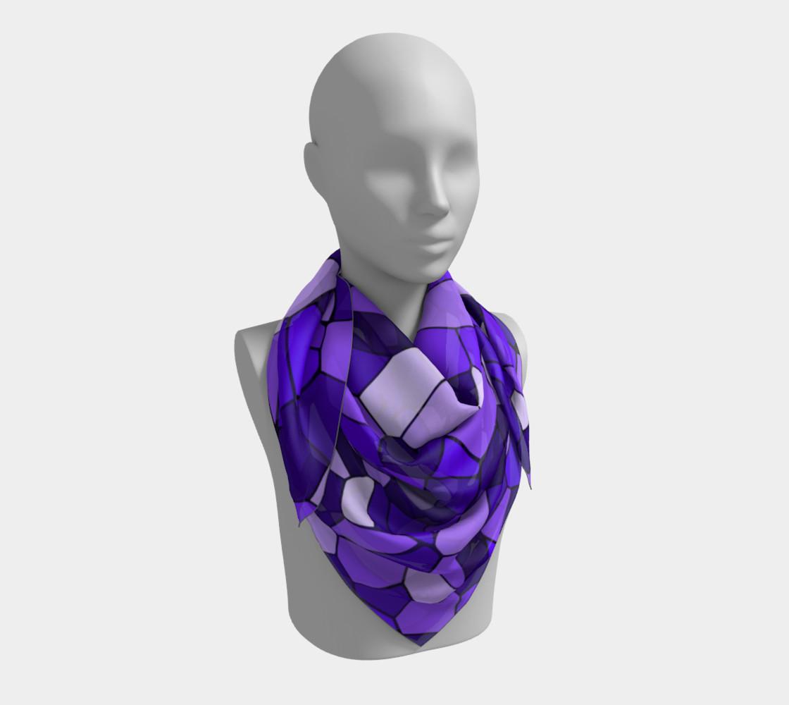Aperçu de Purple Monochrome Geometric Mosaic Pattern #3