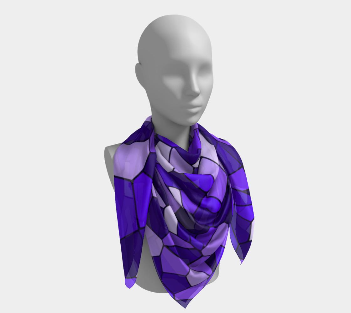 Aperçu de Purple Monochrome Geometric Mosaic Pattern #4