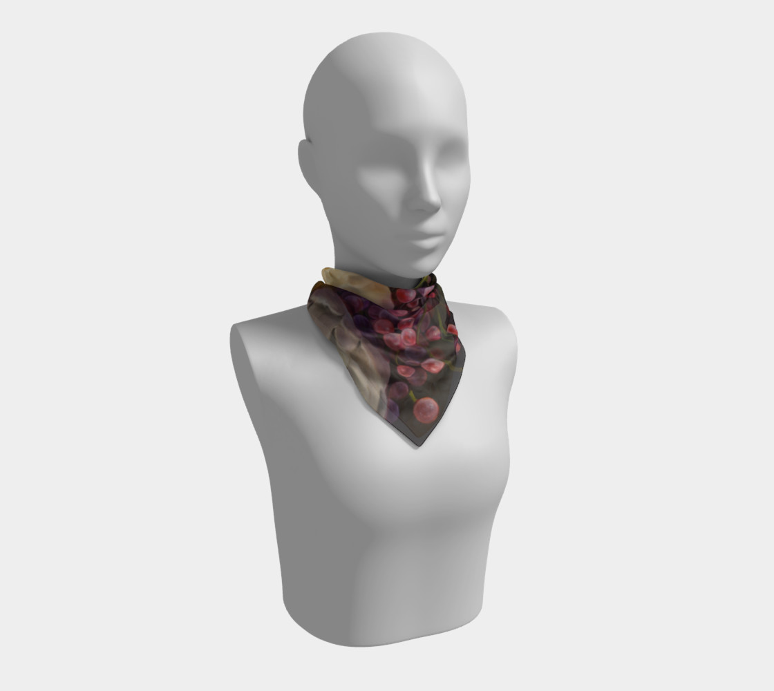 Winter Floral Square Scarf preview #1