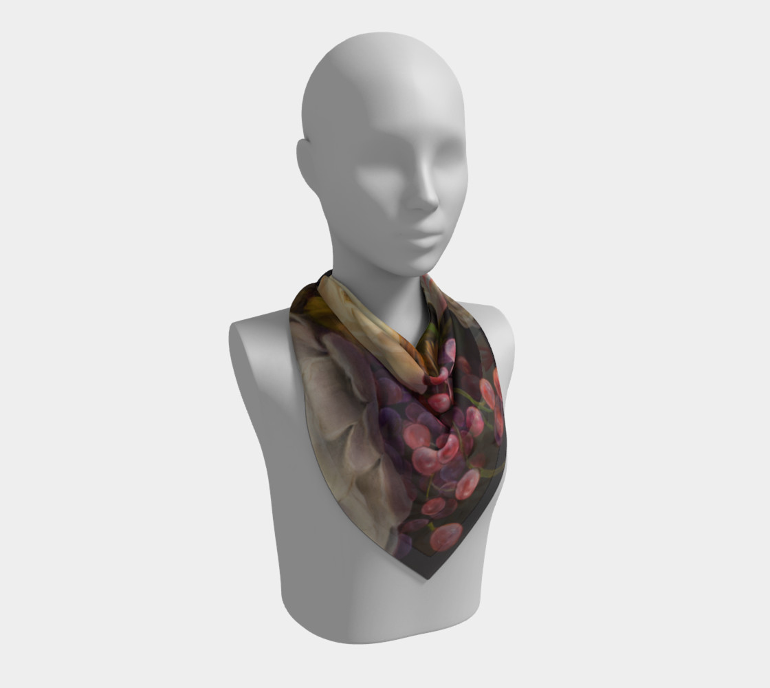 Winter Floral Square Scarf preview #2
