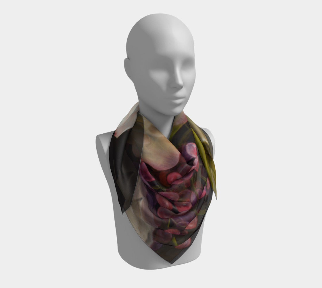 Winter Floral Square Scarf preview #3