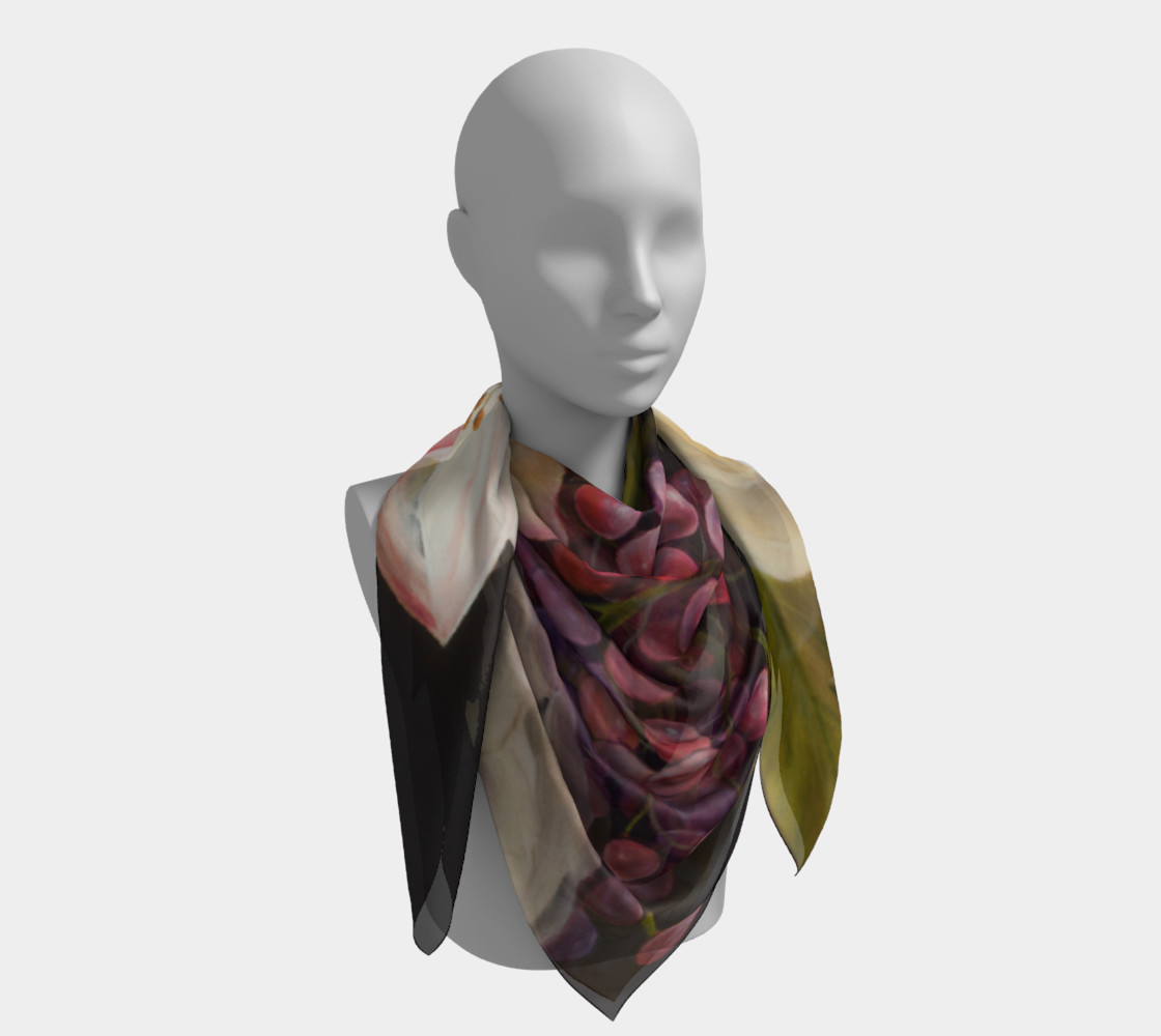 Winter Floral Square Scarf preview #4