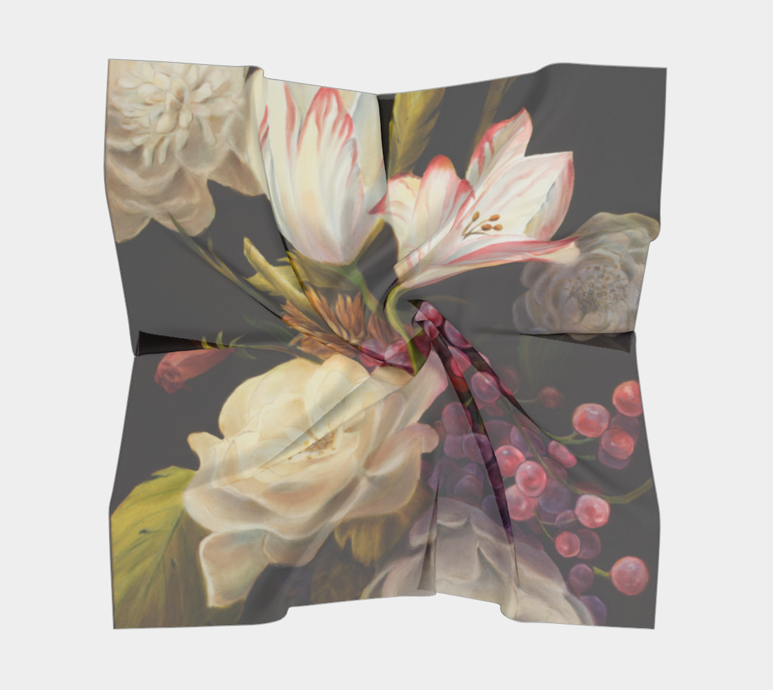 Winter Floral Square Scarf preview #5