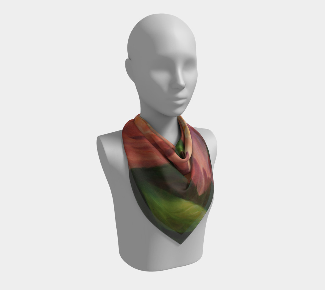 Spring Floral Square Scarf preview #2