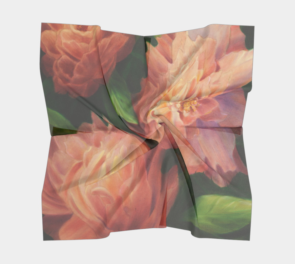 Spring Floral Square Scarf preview #5