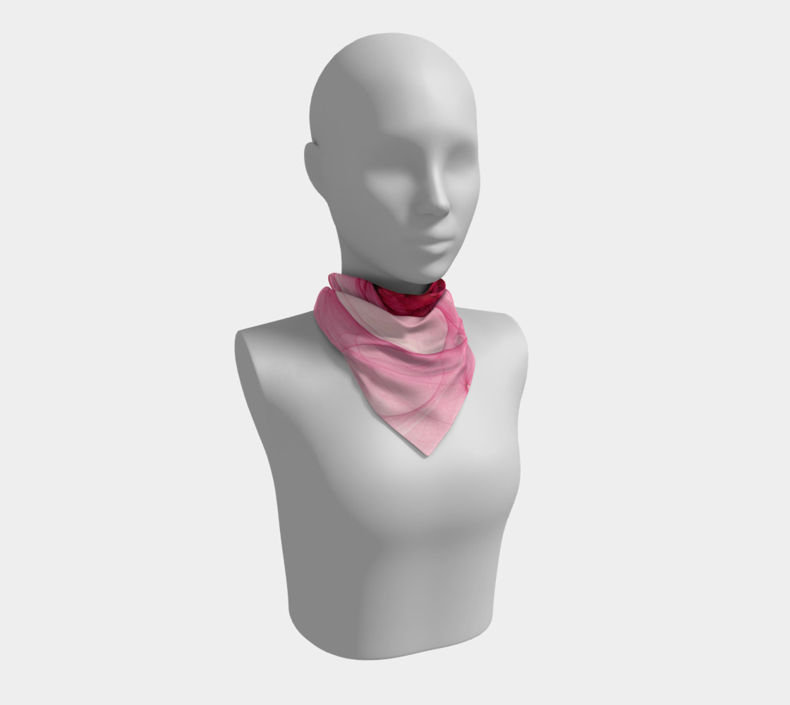 Aperçu de Pink Fractal Fascination Silk Scarf #1