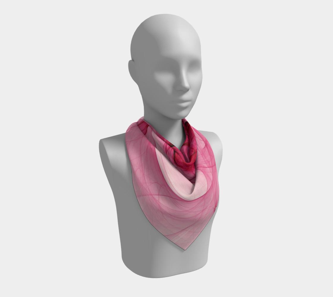 Aperçu de Pink Fractal Fascination Silk Scarf #2