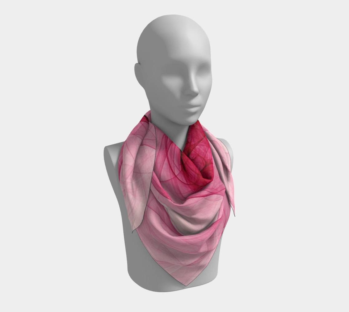 Aperçu de Pink Fractal Fascination Silk Scarf #3