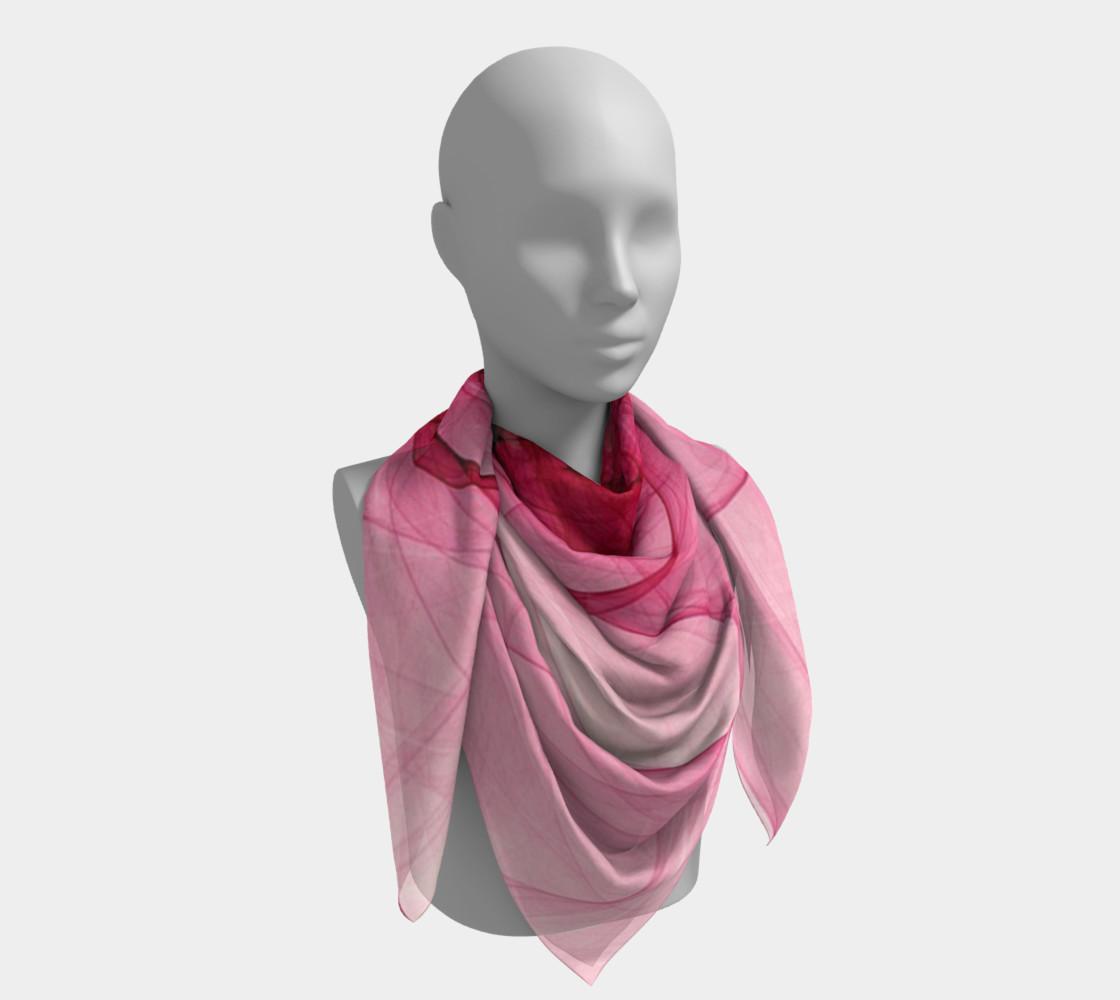 Aperçu de Pink Fractal Fascination Silk Scarf #4