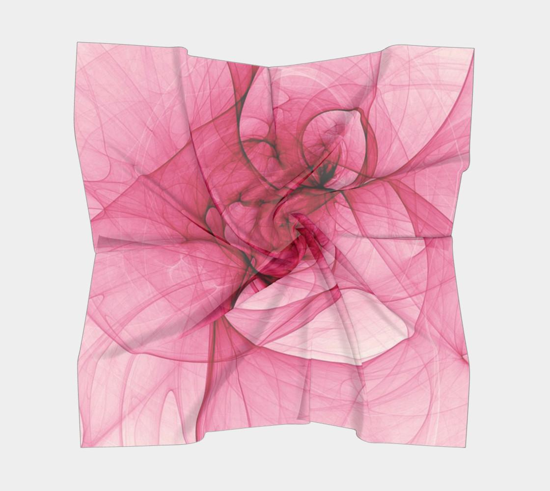 Aperçu de Pink Fractal Fascination Silk Scarf #5