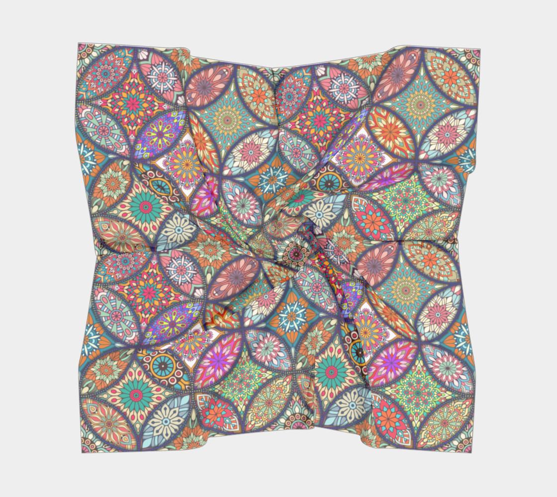Vibrant Mandalas Square Scarf preview #5