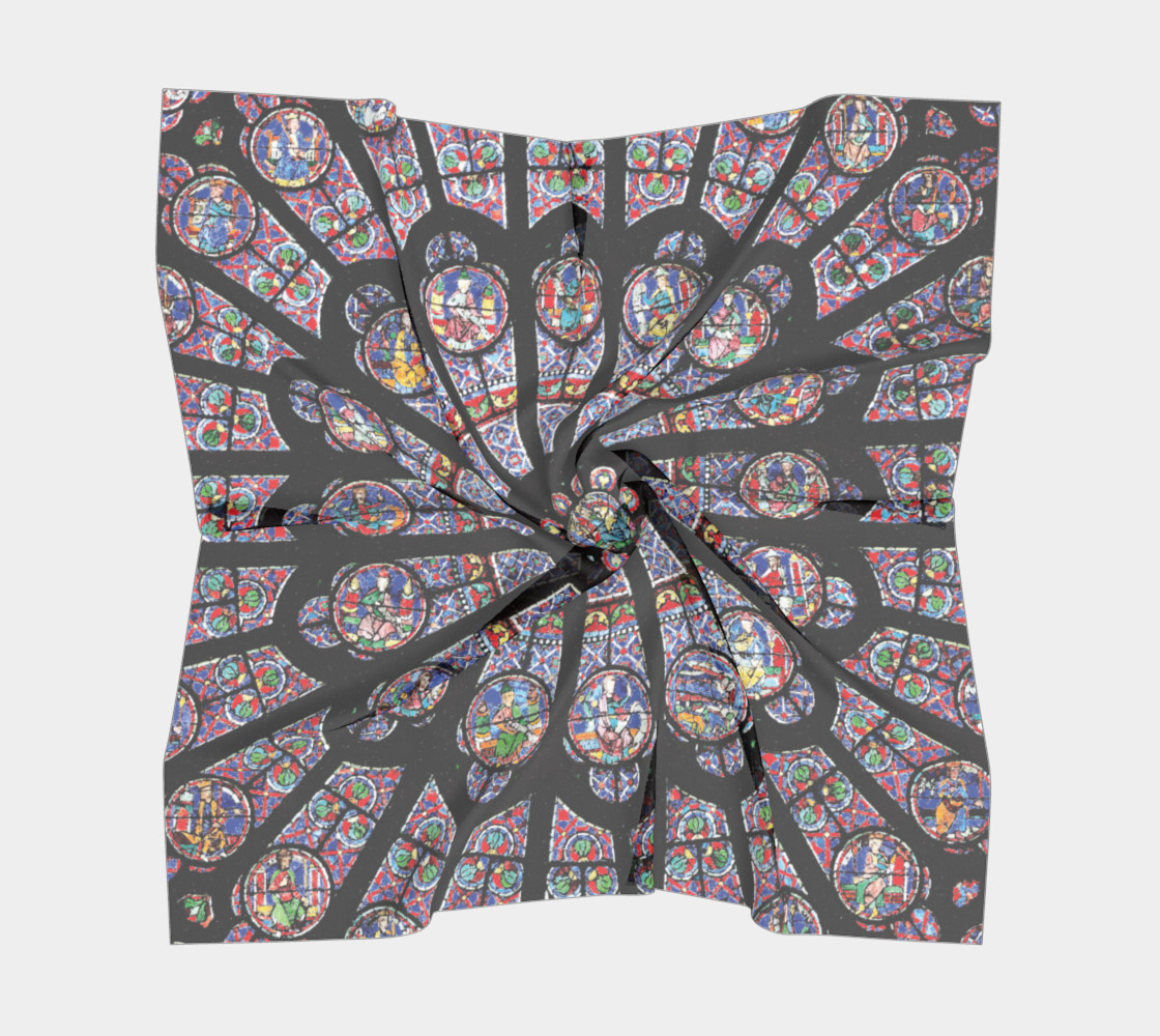Rose South Window, Notre Dame Paris Square Scarf preview #5