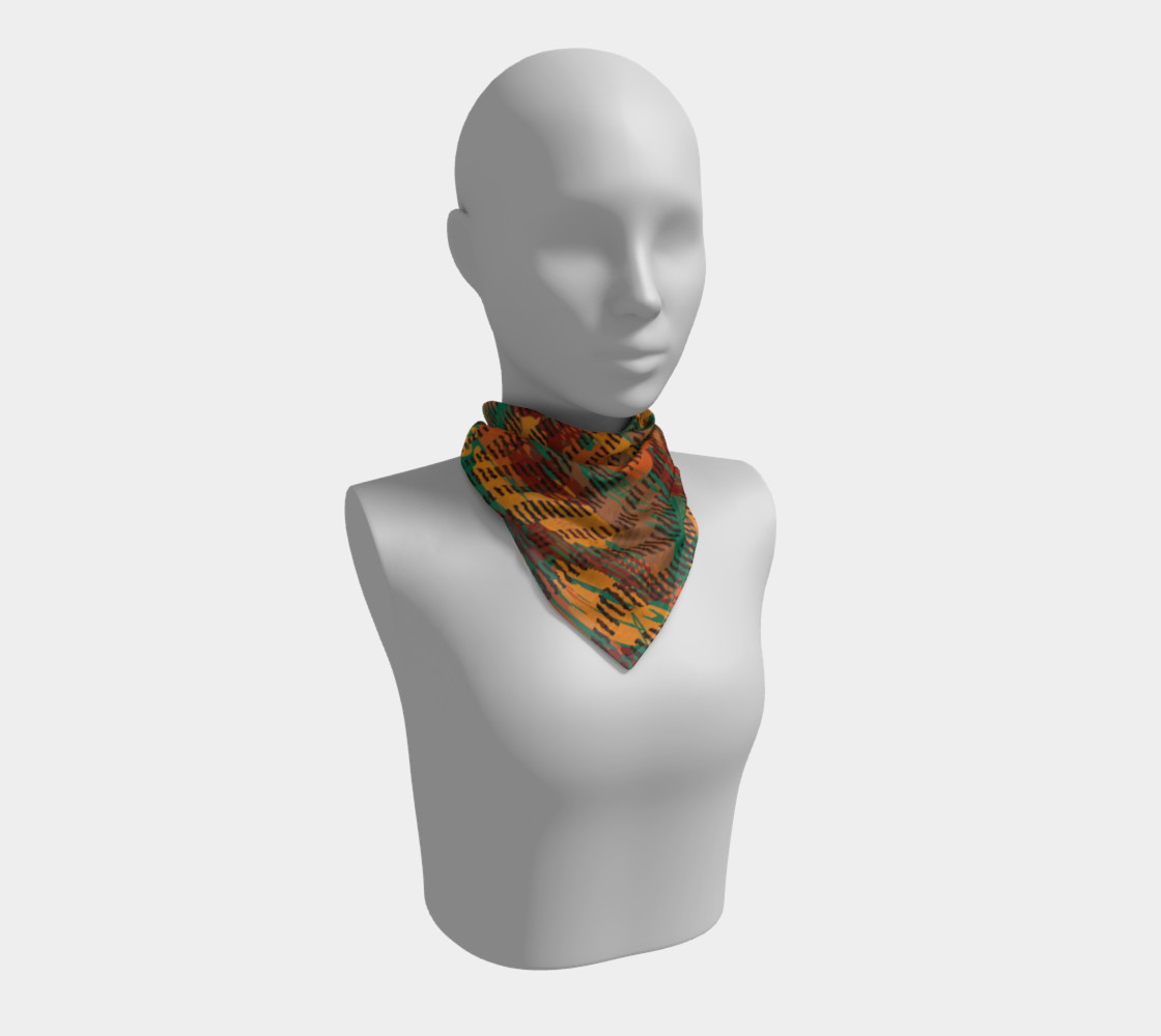 Abstract Animal Stripes Square Scarf preview #1