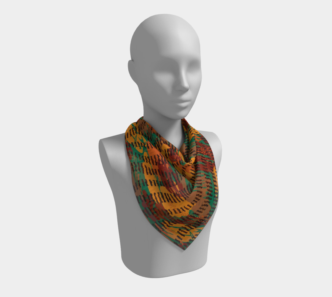Abstract Animal Stripes Square Scarf preview #2