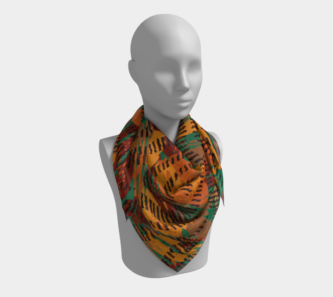 Abstract Animal Stripes Square Scarf preview #3