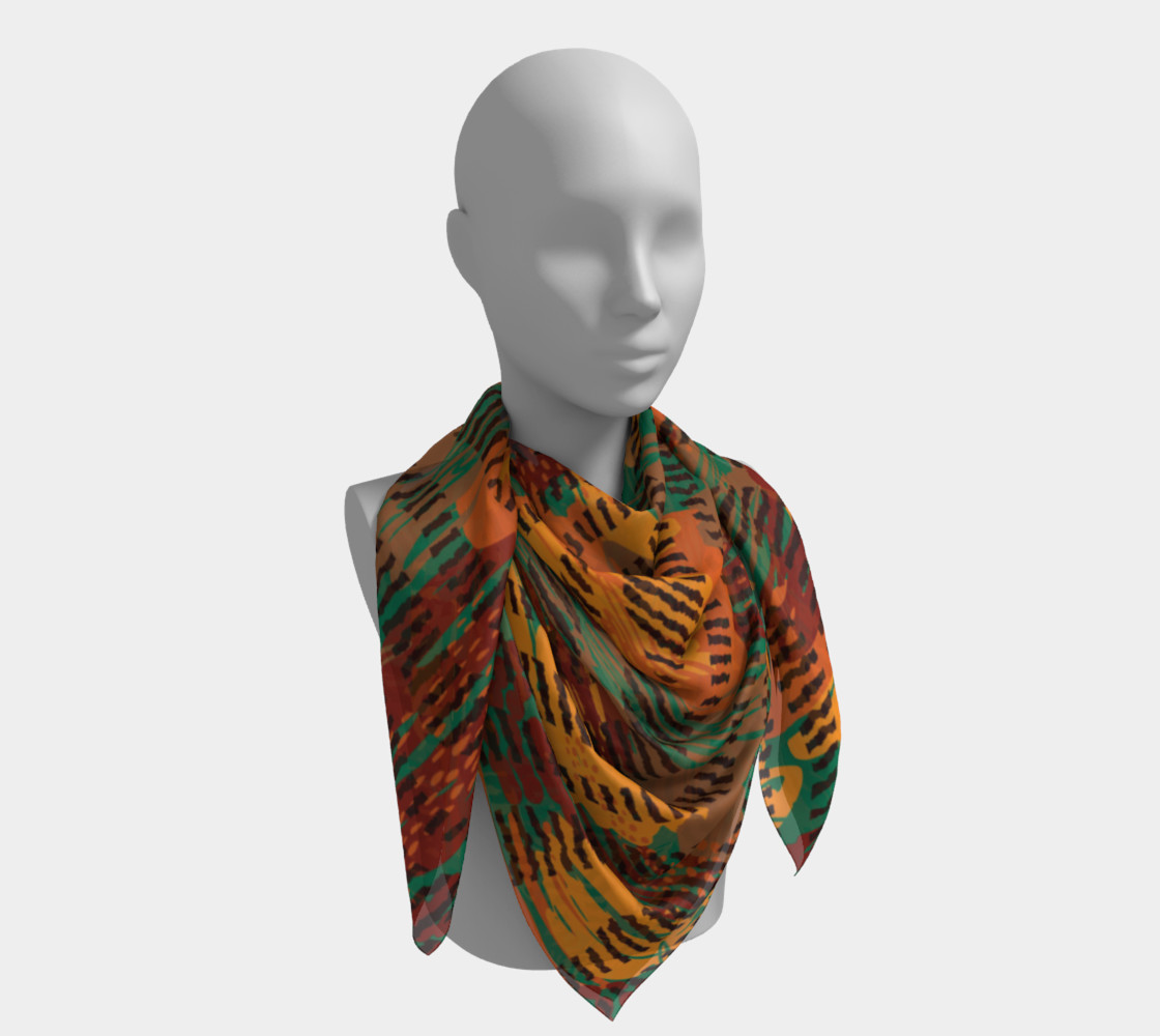 Abstract Animal Stripes Square Scarf preview #4