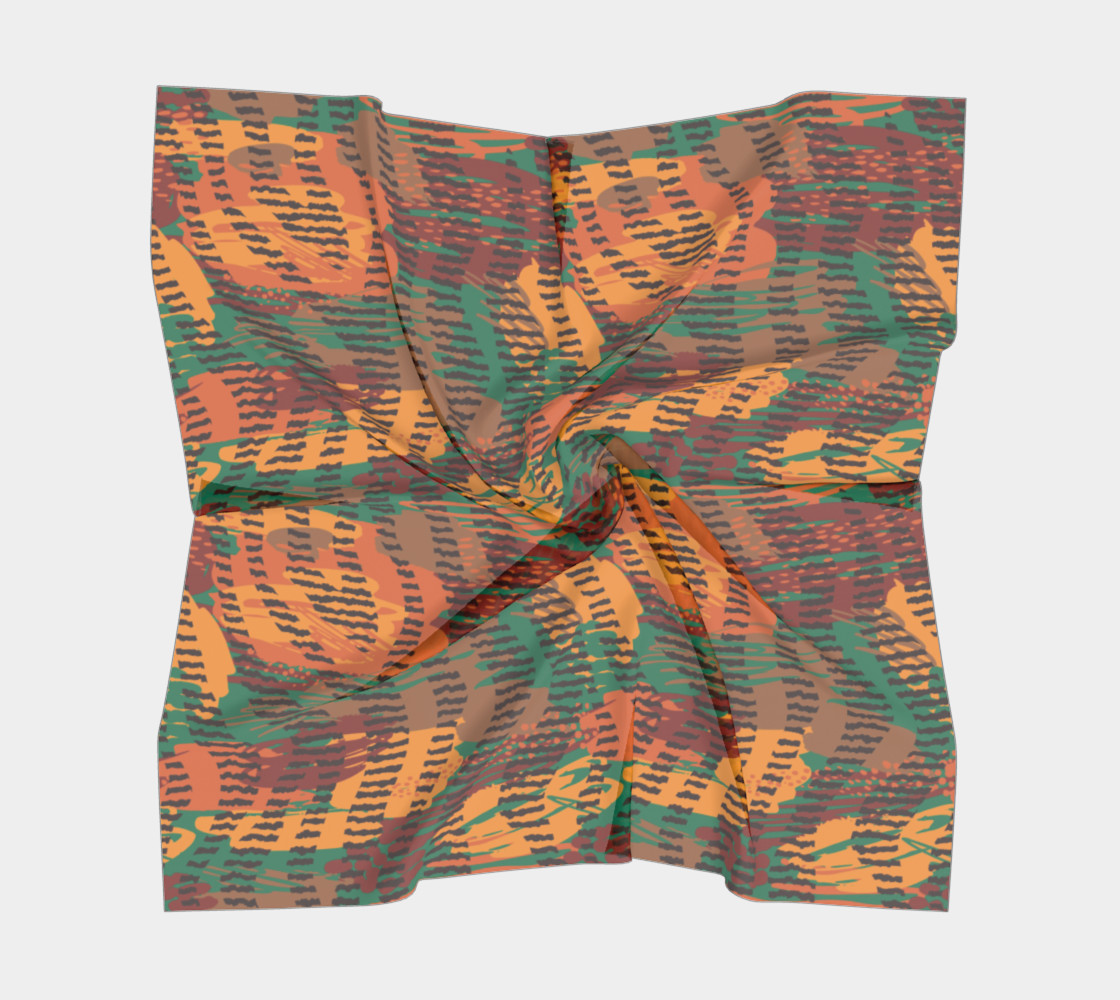 Abstract Animal Stripes Square Scarf preview #5