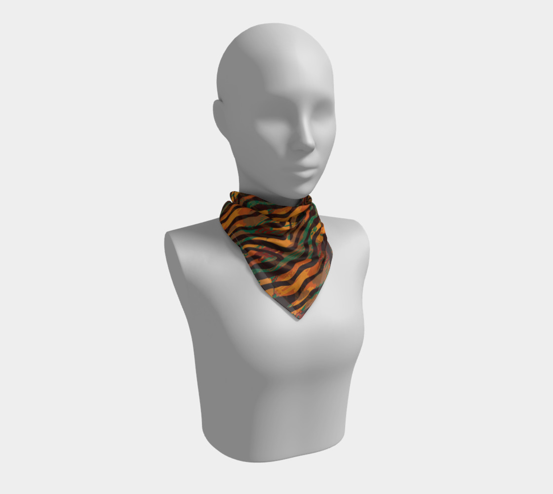 Colorful Animal Stripes Square Scarf preview #1