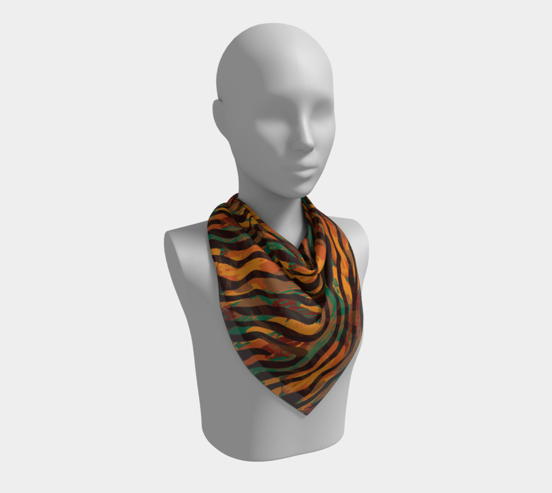 Colorful Animal Stripes Square Scarf preview #2