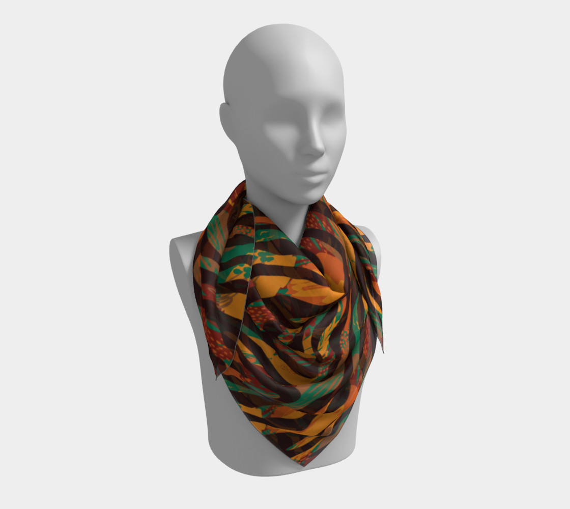 Colorful Animal Stripes Square Scarf preview #3