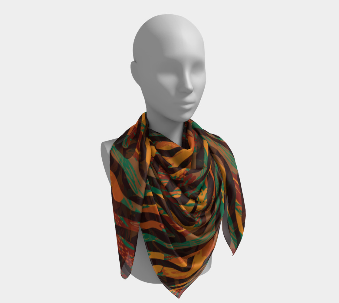 Colorful Animal Stripes Square Scarf preview #4