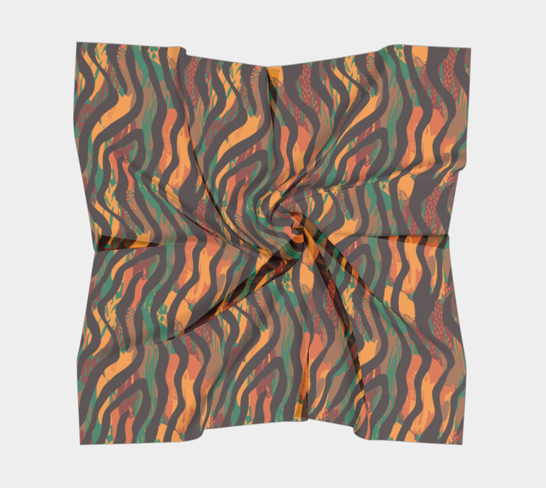 Colorful Animal Stripes Square Scarf preview #5
