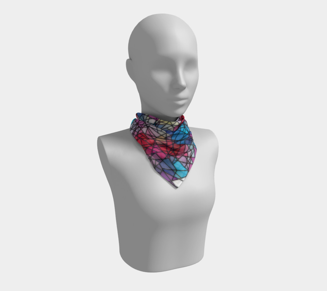 Angular Mosaic Pattern Square Scarf preview #1