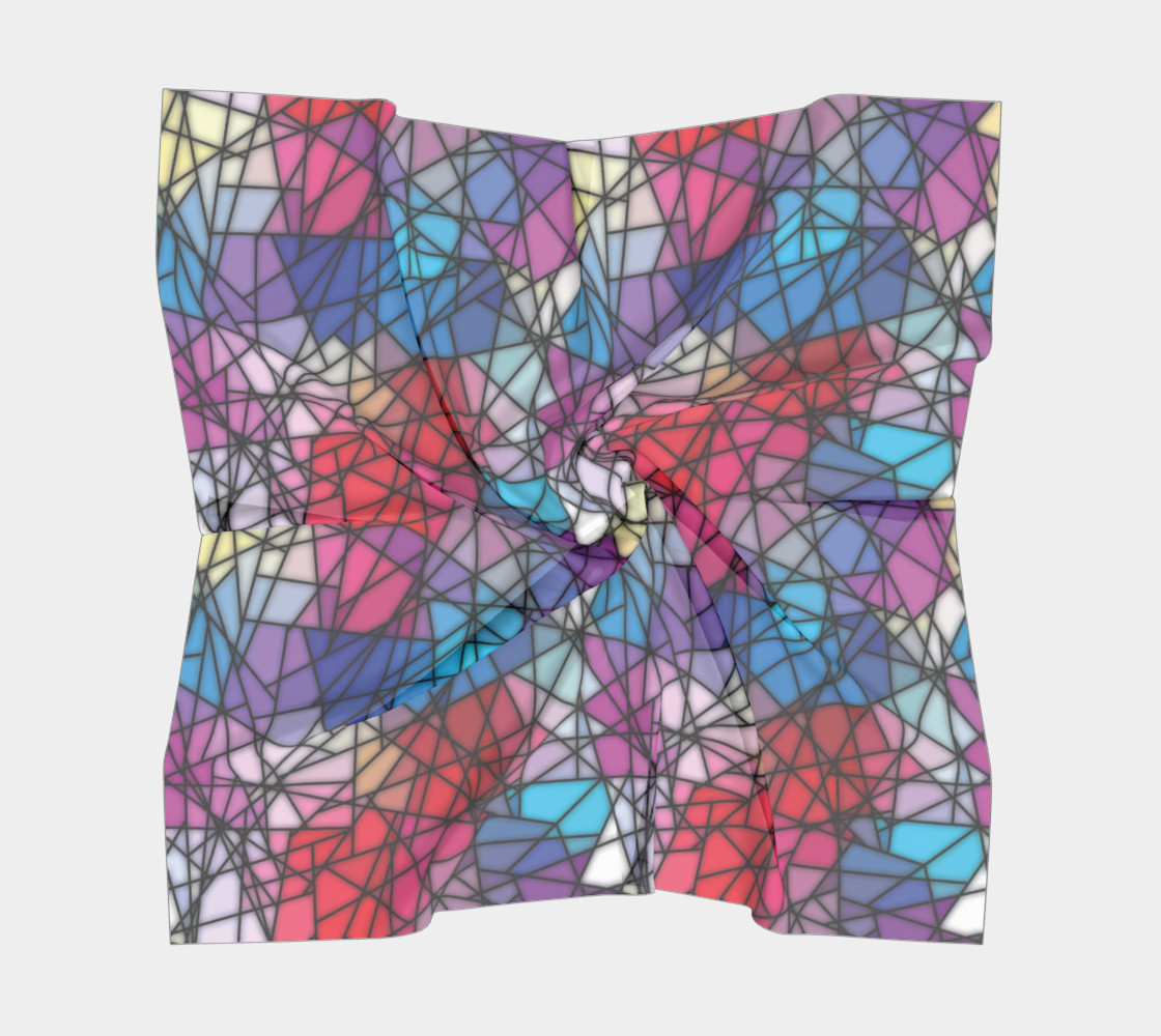 Angular Mosaic Pattern Square Scarf preview #5