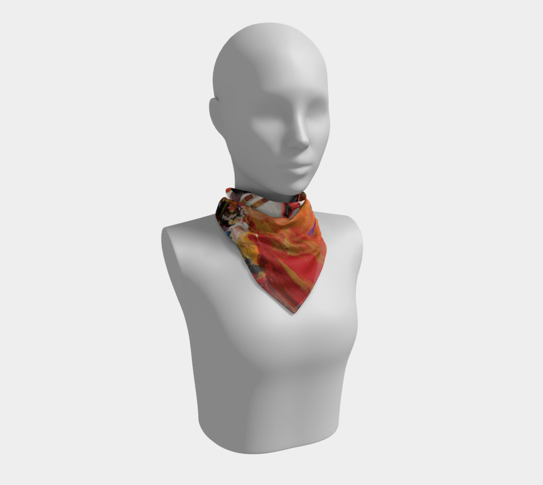 Tango Geisha Square Scarf from an original work of art by Esther M. Smith preview #1