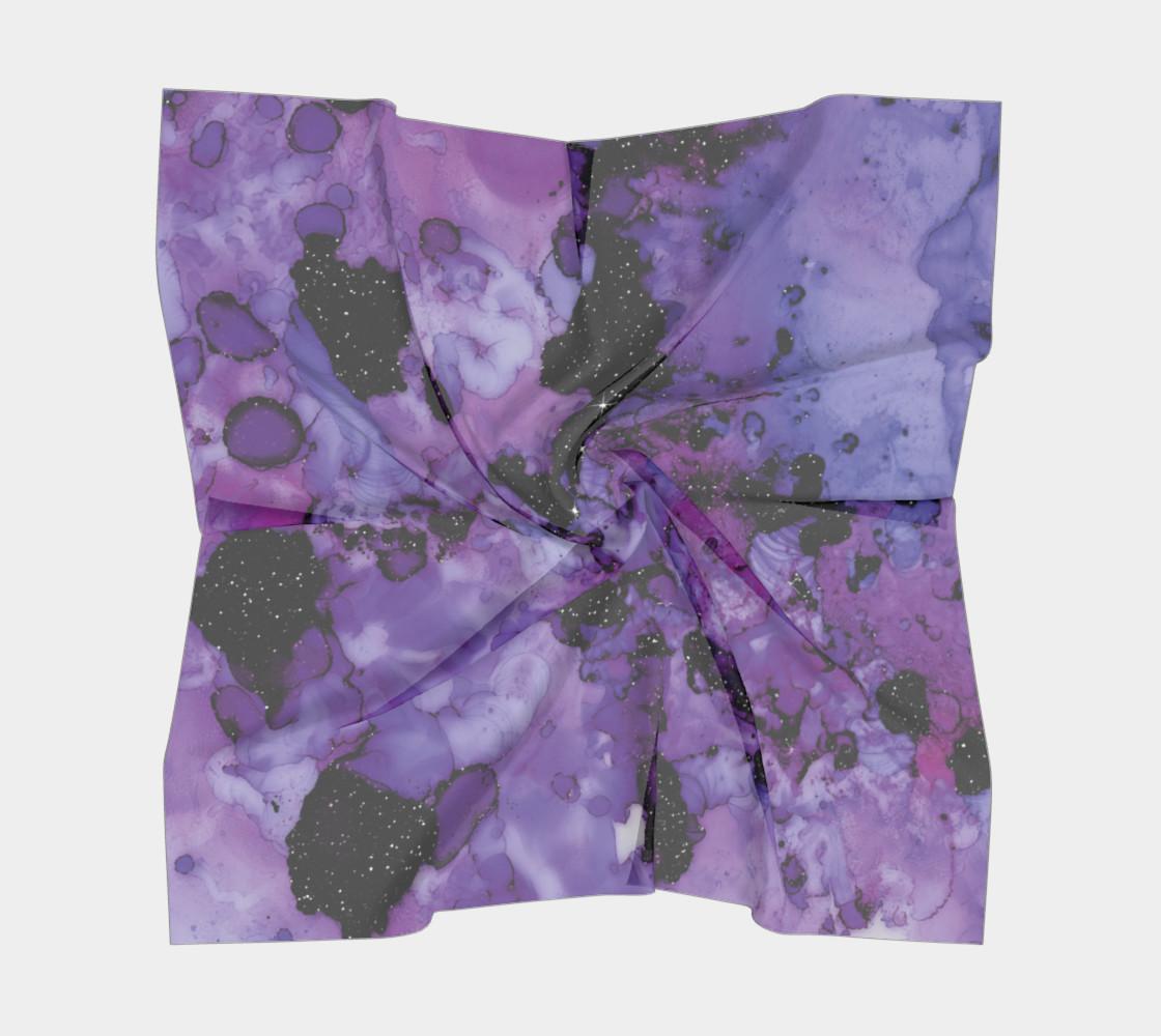 Watercolor Swirls L - Purple & Black,  Square Scarf preview #5