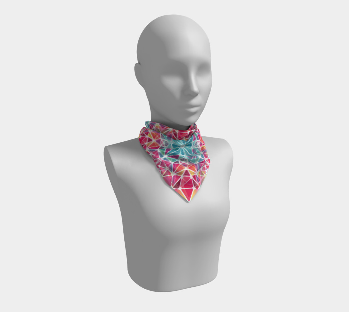Pink & Blue Kaleidoscope Square Scarf preview #1