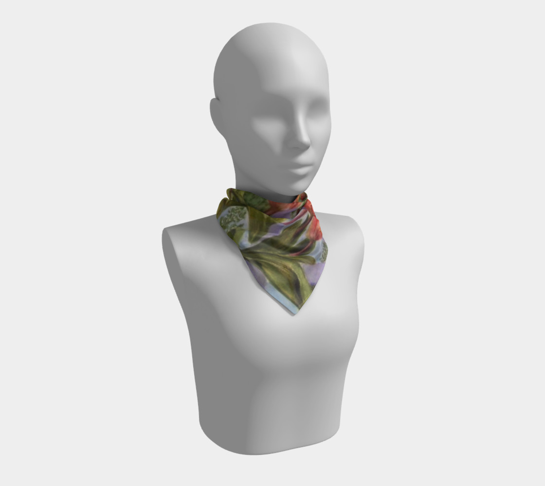 ORANGE TULIPS SCARF preview #1