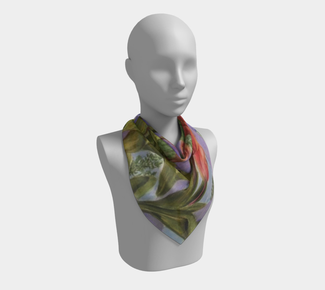 ORANGE TULIPS SCARF preview #2