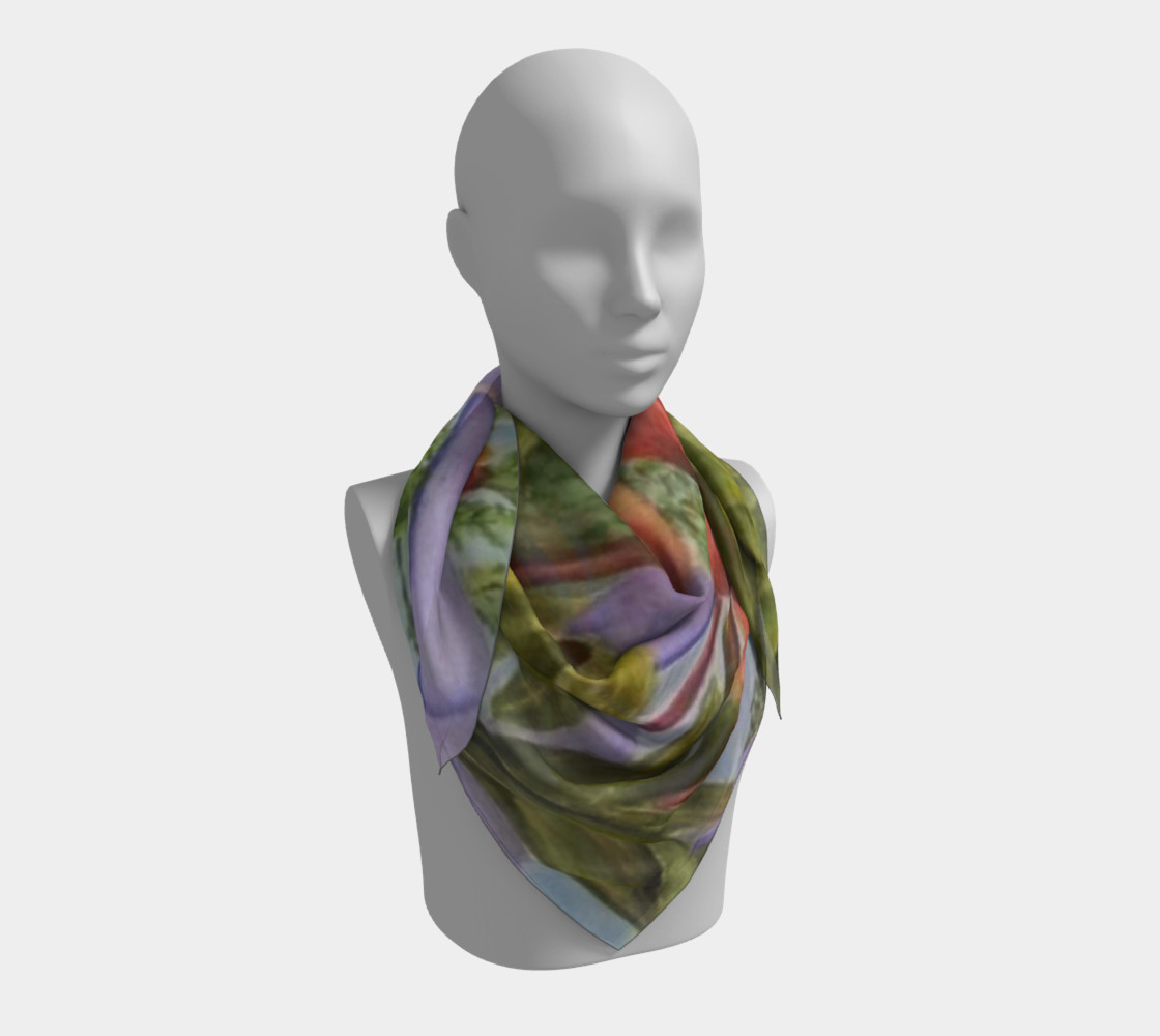 ORANGE TULIPS SCARF preview #3
