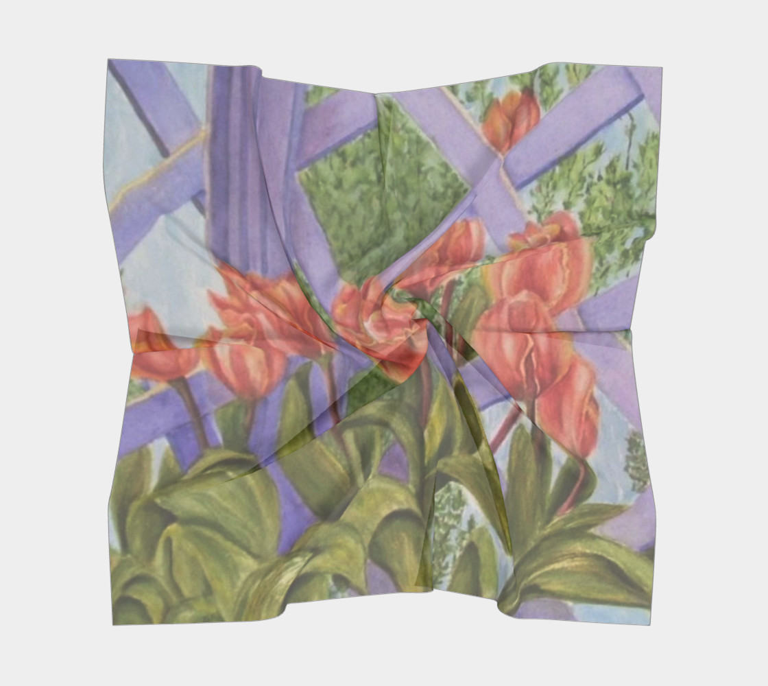 ORANGE TULIPS SCARF preview #5