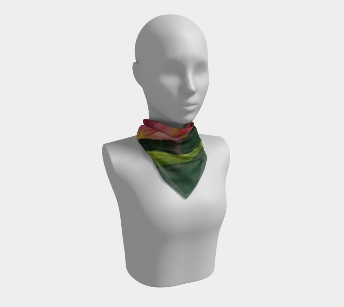 RED ORANGE TULIP Scarf preview #1