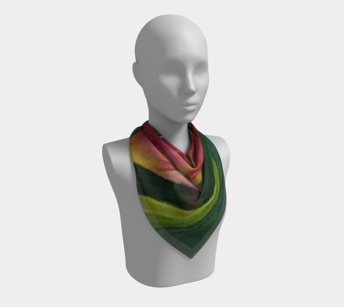 RED ORANGE TULIP Scarf preview #2