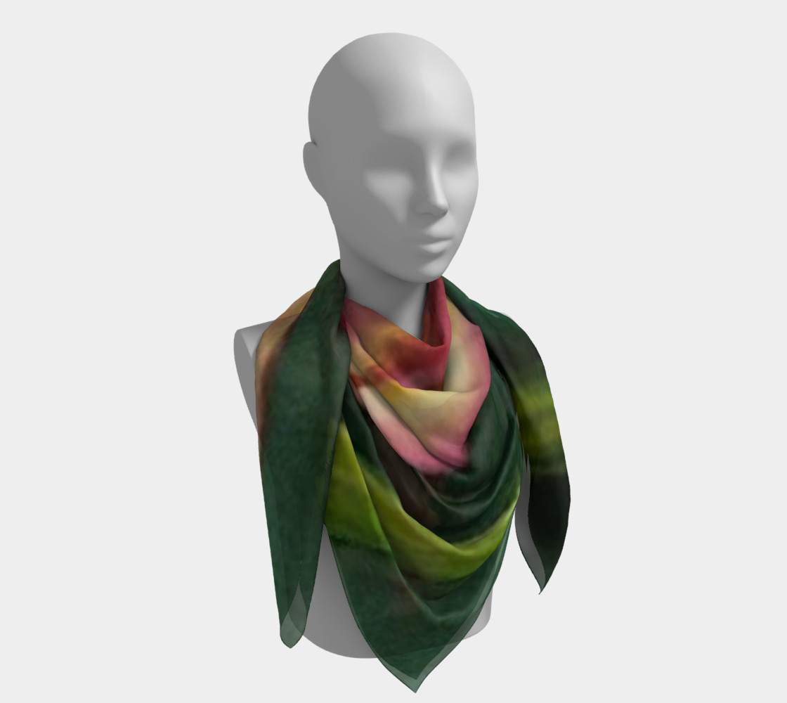 RED ORANGE TULIP Scarf preview #4