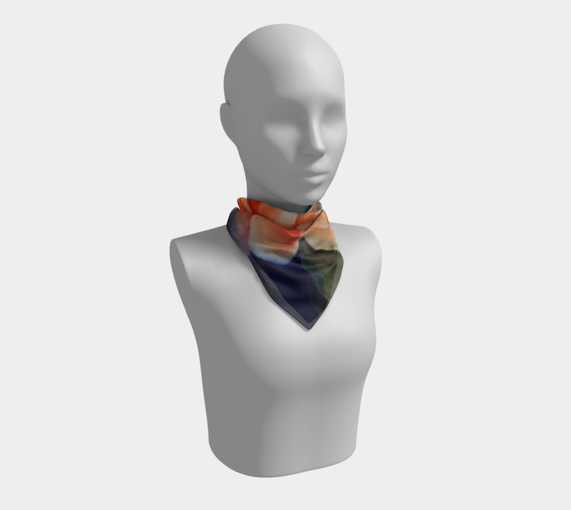 ORANGE WATERLILY SCARF preview #1