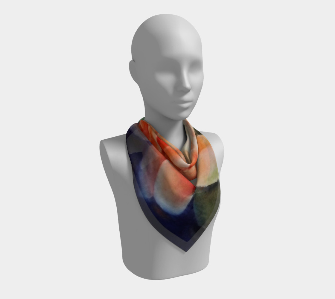ORANGE WATERLILY SCARF preview #2