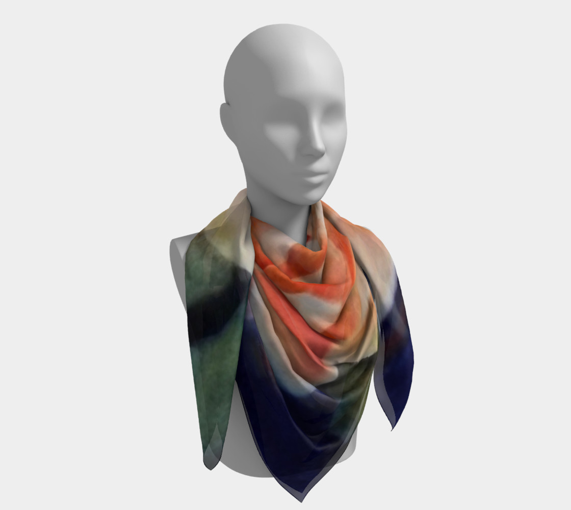 ORANGE WATERLILY SCARF preview #4