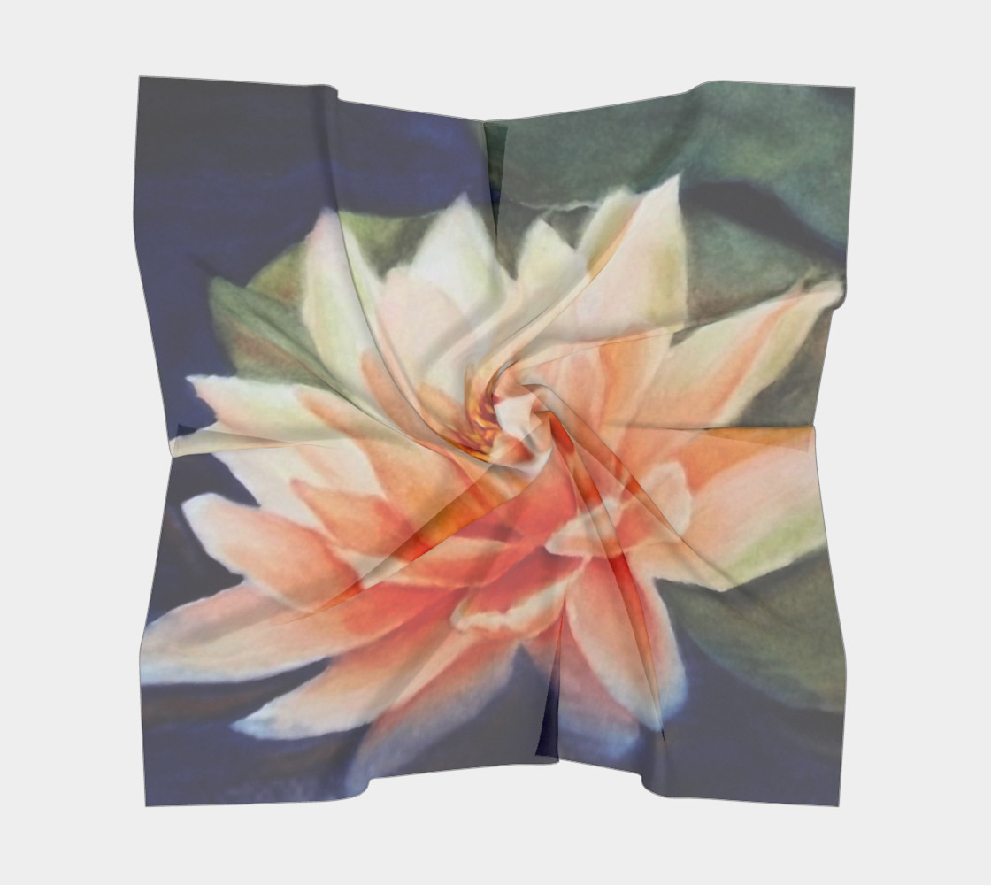 ORANGE WATERLILY SCARF preview #5