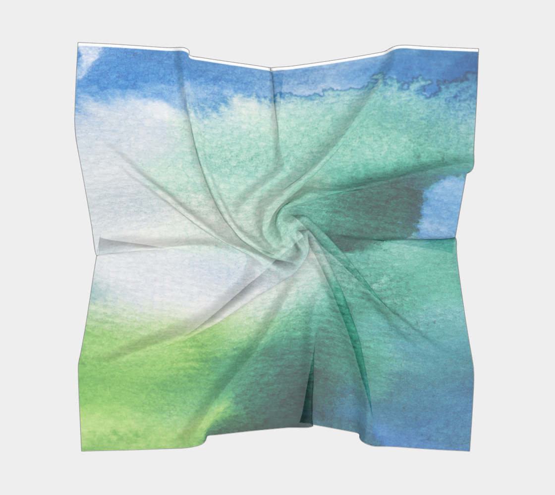 Green Blue Watercolor Abstract preview #5