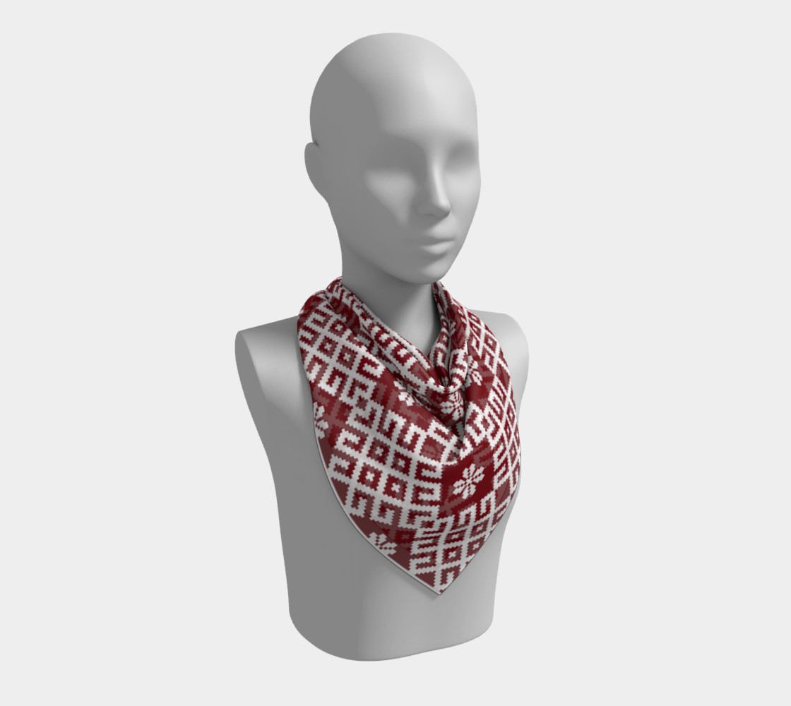 Red and White Nordic Pattern preview #2